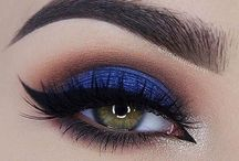 make up blue