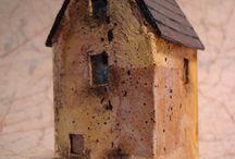 Houses sculptures