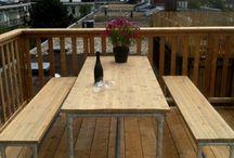 meja set taman