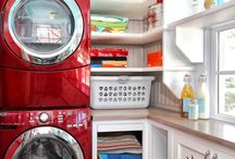 Laundry Rooms We Love / Fantastically decorated and well organized laundry rooms of all sizes.