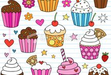Art & Doodles - Food/Drink - Cupcakes