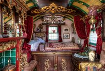 Gipsy caravans and rooms