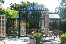 Udestuer og orangerier | Conservatory and orangeries / ideer til tilbygninger der ikke skæmmer huset