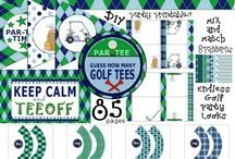 """Golf Party Printables / GOLF PARTY PRINTABLES – It's PAR-TEE Time! This super cool Golf Party Kit is the ultimate """"Golf Party Printables"""" Collection. You can have endless golf parties year after year. Flags, Banners, Bottle Wraps, etc..."""