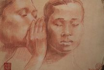 Sean Rush Fine Art - Conte Drawings