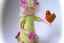Needle felt dolls