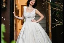 The Manhattan Collection / Fifties inspired collection of Made-to-measure bridal wear, by Lindsay Fleming Couture.