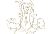 My Monograms / Victorian inspired monograms designed by Bianca Mascorro