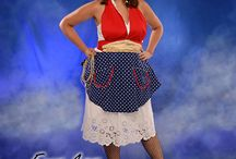 The Wonder Woman Apron / Want to lasso him with your wiles or with your cooking? This little number is sure to dot he trick! / by Trisha Trixie Designs