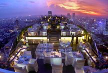 Banyan Tree Bangkok, Thailand / This is a beautiful hotel. Located in the central business district, the Banyan Tree offers 61 floors of contemporary Thai styled luxury guest rooms, a decadent Spa and a fabulous array of dining options including the renowned open air rooftop Vertigo Grill and Moon Bar, where the lure of cocktails overlooking Bangkok's vibrant night lit cityscape should never be ignored.