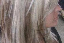 blonde with darker highlightd