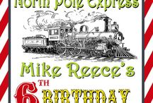 Birthday - Male Train themed cards