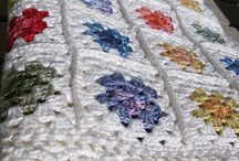 granny squares, afghans and throws