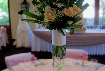 Sweet Floral Wedding Table Arrangements