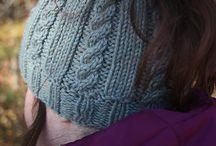 knit messy bun hat