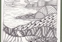 zentangle paysage