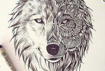 tatouages loup