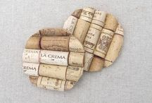 Corked / So you have enjoyed your bottle of Champagne or wine but what to do with the cork other than toss it into the rubbish. From now on why not keep the corks, they can make something good to remind you of special occasions !!