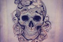 Skull tattoo for girls