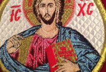 Orthodox Christian Applique Vestment Monastery Art / Orthodox Christian Vestment Applique work of our monastery.