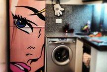 Hűtő, konyha dekoráció