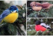 handmade ptaki