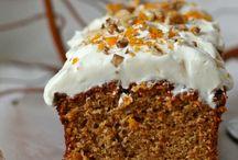 Gebak en cake met pompoen