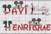 ponto cruz Disney