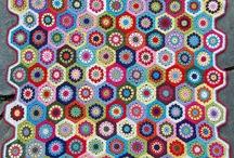 Warm Comfy Blankets / Colourful, warm, crochet