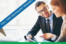 Full Time Equivalent (FTE) / We at strategy MRC provide Full Time Equivalent (FTE) professionals with extensive experience in marketing research and focused approach toward the research areas.