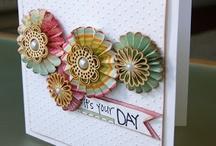 Cards ~ Rosettes & Pinwheels / by allayne jarrald