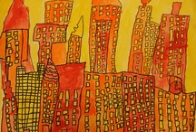 Art projects:City, buildings, architecture and construction / Where do you live? What makes a house a home?