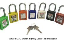KRM LOTO OSHA Safety Lock Tag Padlocks / Manufacturer & Supplier of Lockout Tagout products to meet OSHA Standards in global market. www.krmcorporation.com #safetypadlocks