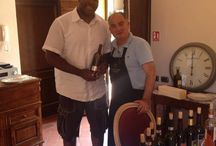 Russell Okung at Torciano Winery! / OKUNG RUSSELL with Pierluigi Giachi The Champion American Football SEATTLE SEAHAWKS on holidays in Tenuta Torciano winery in Tuscany with Pierluigi Giachi and his TORCIANO's wines