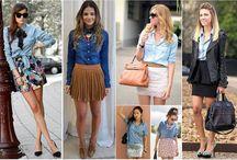 Looks inspiração: camisa jeans