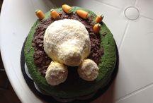 Osterhase-Torten / Osterhase-Kuchen ist aus Schwarzwälder