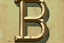 Letters / Individual letters of the alphabet that caught my eye on Pinterest and elsewhere.