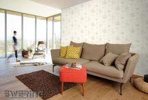natürlich, modern und elegant - Tapeten Grandeco Lucia / Die Tapeten-Kollektion Lucia von Grandeco strahlt mit ihren schimmernden Oberflächen und den natürlichen Mustern ein schönes wohnliches Ambiente aus.