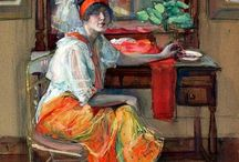 Jane Peterson / Jane Peterson was nationally recognized for her gouaches (opaque watercolors) as well as her paintings during the 1905-1925 period. She studied with the great Spanish Impressionist painter, Joaquin Sorolla, and at the Pratt Institute, New York, 1895-1901. She was a member of the prestigious National Academy of Design, New York, and was an instructor at the Art Student's League, New York, 1914 to 1919.