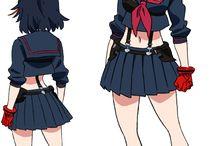 Ryuko Matoi! / Some of my favorite pics of Ryuko Matoi in her Senketsu school uniform <3