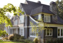 Exterior Inspiration / Gorgeous Classic House Exteriors in Hamptons, Coastal and French Country Styles.  From White to Grey to Blue you will find the perfect home exterior inspiration.