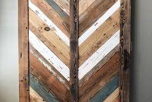 Barn door/pallet wall/pallet bed