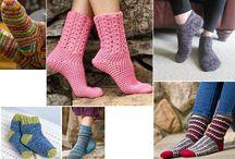 meias de crochê
