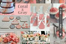 Bright Coral : Wedding Colors