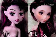 Dolls - repaint b&a