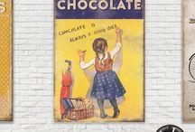 chocolate poster vintage