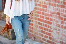 Женственные образы с джинсами