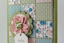Quilt cards / Using paper to create mini quilts on cards