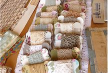 buttons, lace and trims / beautiful vintage laces, antique buttons and storage for these .