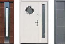 drzwi zewnętrzne dwuskrzydłowe z szbą